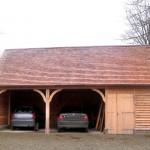 Garage couvert Tuiles Bois