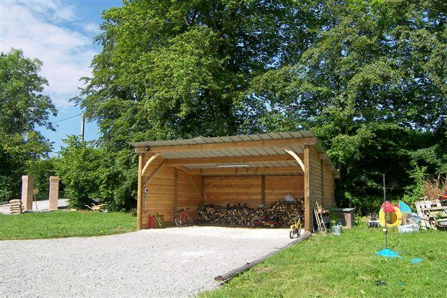 Garages soci t trefibois - Abri jardin ouvert bois lyon ...