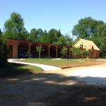 Maison de gardien tuile de bois et garages