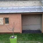 Appentis toit zinc